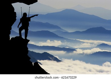 challenging and successful mountain climber