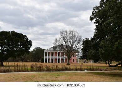 Chalmette National Battlefield  in Louisiana, on a stormy winter day,  is the site  where the Battle of New Orleans was fought
