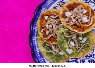 chalupas poblanas, mexican food Puebla Mexico