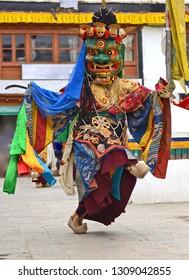 Cham Dance in Monastery, in Leh, ladakh, India