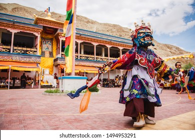 Cham Dances during the Tak Thok festival at Tak Thok Monastery in Ladakh, India