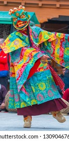 Cham, mask, dance performed at Monastery in Leh, ladakh, India