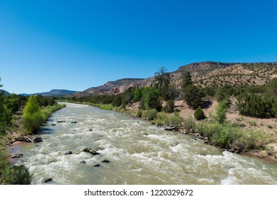 Chama River near Abiquiú, New Mexico is a Tourist and Rafting Destination with Rapids.