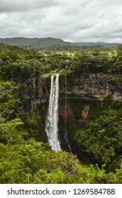 Chamarel waterfall, mauritius island