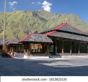 Chamba, Himachal Pradesh, India-September 2020. Shiva Shakti Temple is a Indian Heritage temple in high hill of Sub division Bharmour District Chamba