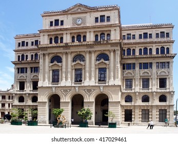The Chamber of Commerce building in Old Havana, Cuba