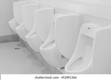 chamber pots or urinal toilet of a shopping mall