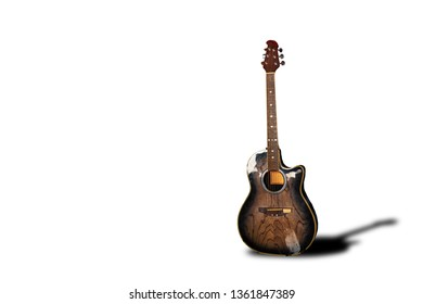 Chambered Guitar Musical instruments separated from the background clipping part