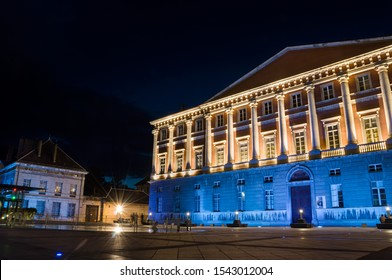 Chambery courthouse at night in  Savoie
