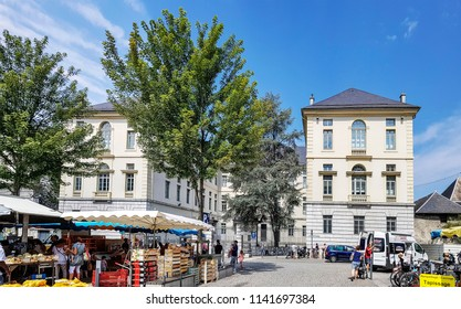 CHAMBERY, FRANCE - JULY 14, 2018: Chambery secondary school in the centre of Chambery, Haut Savoye, France