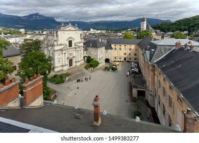 Chambery Savoy, France - August 2 2019: Castle of Savoy Dynasty and the Holy Chapel