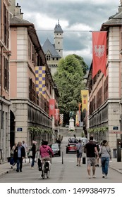 Chambery Savoy, France - August 2 2019: Castle of Savoy Dynasty in Chambery