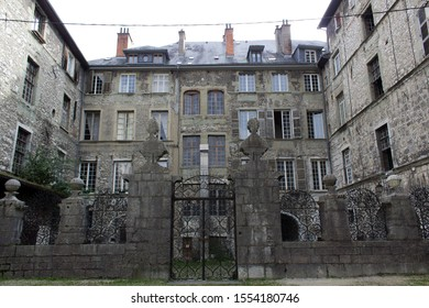 Chambery/France-October 23,2019: city historical center hotel facade view architecture building Chambery tourism travel french alps mountain savoie france region
