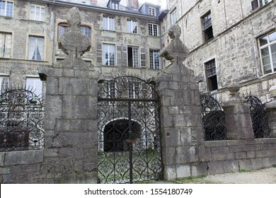 Chambery/France-October 23,2019: hotel facade view architecture building Chambery city historical center tourism travel french alps mountain savoie france