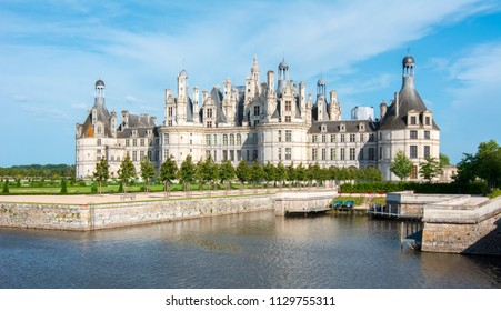 Chambord castle (chateau Chambord) in Loire valley, France