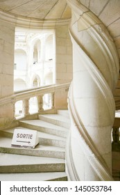 Chambord Castle, France Double helix staircase by Leonardo da Vinci