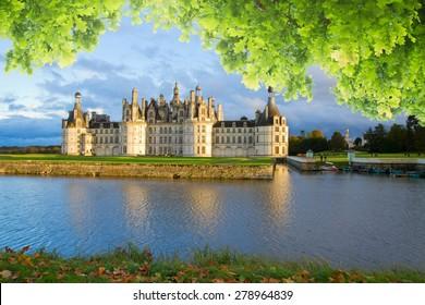 Chambord chateau at summer day, Pays-de-la-Loire, France