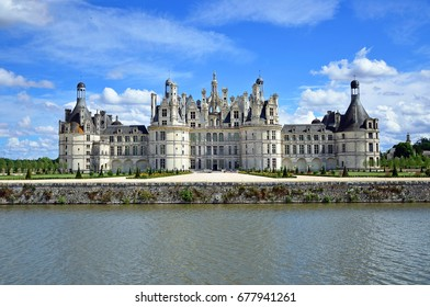 CHAMBORD, FRANCE - JUNE 28, 2017: Chateau of Chambord is the largest castle in the Loire Valley and was built from the  sixteenth century to serve as a hunting lodge.