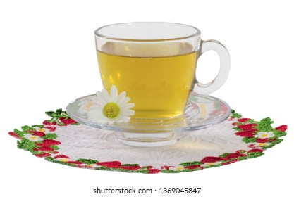Chamomile decoction cup with transparent background