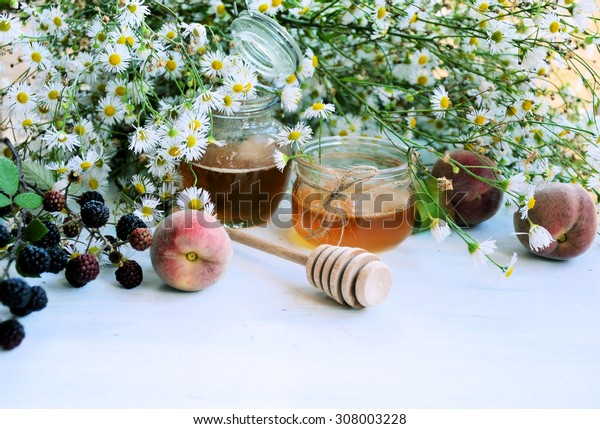 chamomile honey, organic food