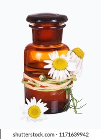 Chamomile, old pharmacists bottle