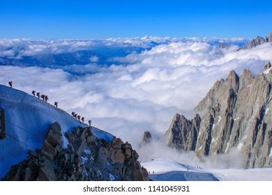 Chamonix mountain climb