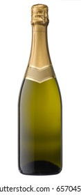 Champagne bottle with clipping path
