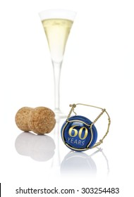 Champagne cap with the inscription 60 years