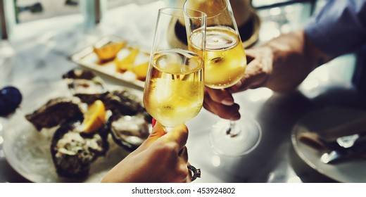 Champagne Celebration Toast Beverage Concept
