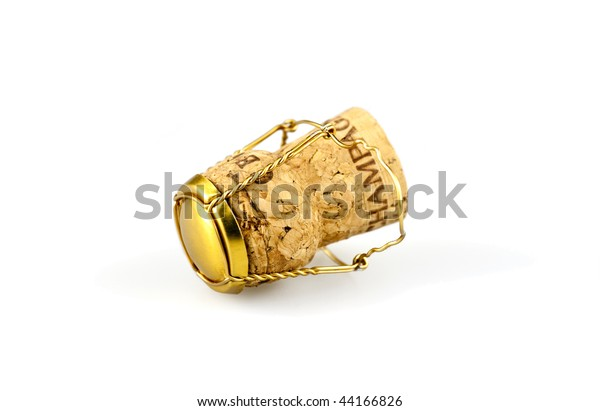 A Champagne cork with a traditional muselet.