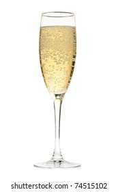 Champagne glass. Isolated on white background