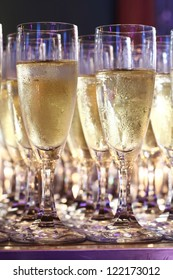 Champagne in glass ready to serve in party