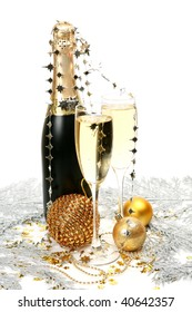 Champagne and gold spheres