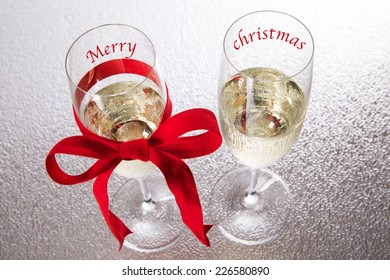 Champagne, merry christmas