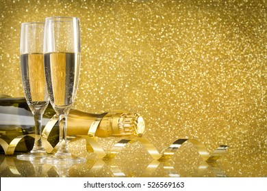 Champagne new year's eve