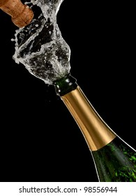 Champagne opening and splash
