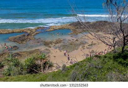 Champagne Pools bathing holes on Fraser Island Australia endless Beach Sand Paradise