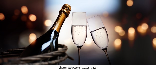 Champagne for romantic celebrations and enjoy for special moments