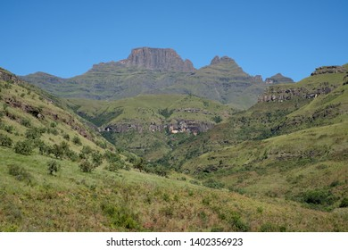 Champagne Valley near Winterton forming part of the central Drakensberg mountain range, Kwazulu Natal, South Africa.