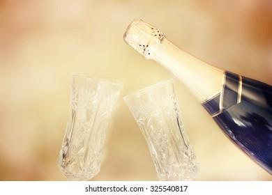 Champagne.New Year Celebration