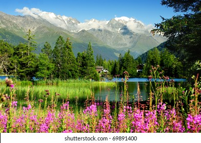 Champex, a charming village surrounded by mountains and a lake