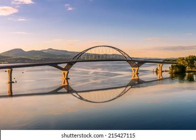 Champlain Bridge across Lake Champlain connecting New York and Vermont