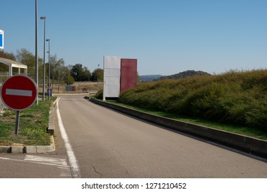 Champoux,France-October 14, 2018: Station Service Aire de repos, Besancon Champoux, of autoroute A36