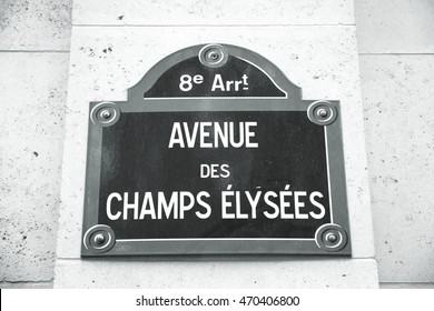 Champs Elysees avenue in Paris