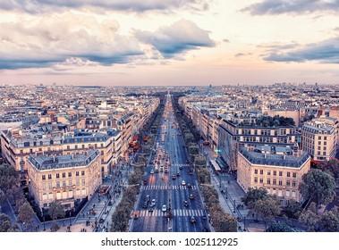 Champs-Elysee avenue in Paris