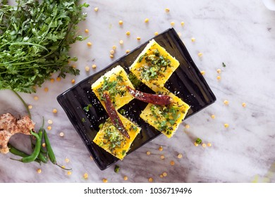 Chana dal dhokla is a healthier version of dhokla made from chana dal.