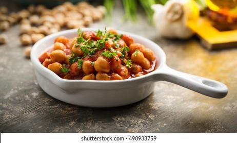 Chana Masala - curry dish with chickpeas