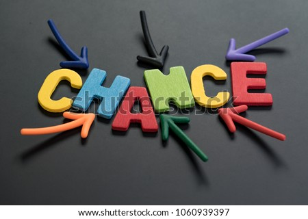 chance can change life or career path job or work journey concept colorful arrows