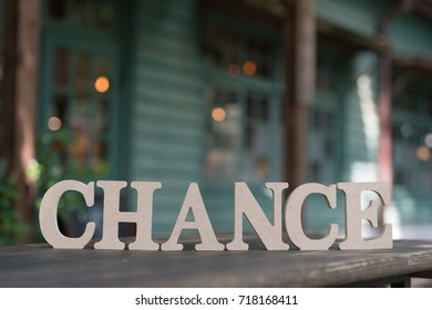 Chance word background ,concept of change word
