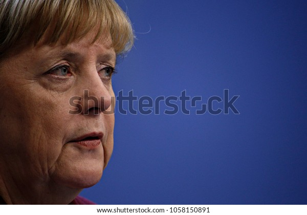 Chancellor of Germany, Angela Merkel gives a press conference at the end of the European Union leaders summit at the European Council in Brussels, Belgium on Dec. 15, 2016